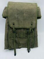 Vintage Military Italian Sarchi Broni Canvas Backpack Rucksack Satchel Bag