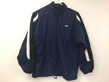 Nike Zip Front Light Jacket Large 14 16 YOUTH Active Wear Blue Black White Coat