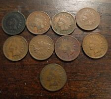 1901-1909 Indian Head cent collection, 9 better grade pennies A3