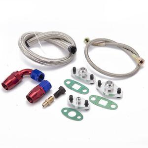 Single Turbo Oil Feed Line Flange Kit For Toyota Supra 1JZGTE 2JZGTE 1JZ/2JZ