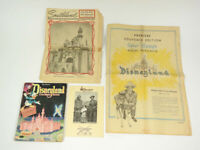 1955 Disney Disneyland Opening Inserts Arcade Photo Coloring Book Vintage Lot