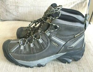 KEEN WomensWaterproof Mid Boots Leather Hiking Shoes Size 10