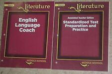 Glencoe Literature Middle School Standardized Test Preparation+English Language