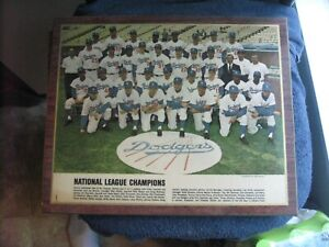 VINTAGE L.A. DODGERS TEAM PANORAMA KOUFAX LAMINATED DAILY NEWS      GROBEE 1957
