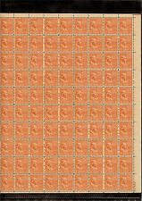 US MINT SHEET SCOTT#803,1/2C STAMP BENJAMIN FRANKLIN SHEET OF 100 MNH OG BCV $18