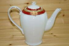 "Royal Scotland RZS10 Red & Gold Coffee Pot & Matching Lid, 7 3/4"""