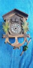 German Cuckoo Clock Wooden Clock Case with Trim and Leaves Parts or Repair F62