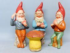RARE 1930 BOXED SET OF GAMBLING GNOMES - GARTENZWERG ZWERGE NAIN DU JARDIN