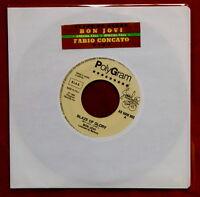 "BON JOVI Blaze of Glory 7"" promo JUKE BOX original RARO! Concato GIGI vinyl wol"