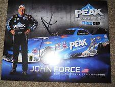 John Force Autographed 8x10 Color Promo Photo