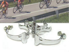 3 pieces REG chromed steel top tube brake cable clips .