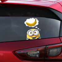 Despicable ME MINION BOB PEEKING BANANA Decal Window Sticker Car Bumper Gift