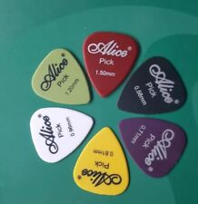 6 x Alice Guitar Picks Plectrums Acoustic Electric Bass 0.58 - 1.50mm Assorted
