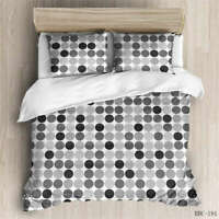 Different Dots 3D Quilt Duvet Doona Cover Set Single Double Queen King Print