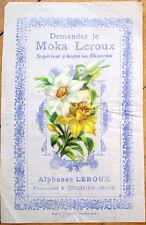 1900 Chicoree/Moka Advertising w/Victorian Diecut Scrap: Lily Flowers - 8
