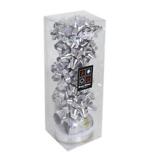Christmas 13 Piece Gift Pack of Bows & Ribbons - Silver