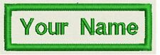 "Rectangle Custom Embroidered Name Tag, Biker Patch, badge 3""x1"""
