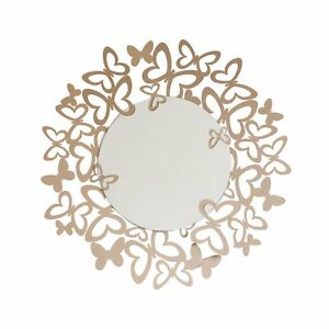 Arti e Mestieri Specchio da parete Butterfly Metallo BEIGE FARFALLE