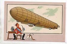 Chromo TINTIN Aérostation Voir et Savoir. Dirigeable Zeppelin.