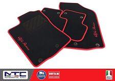 Tappetini auto ALFA ROMEO 147 - 2 ricami ROSSO + 8 BLOCK - TAPPETI AUTO MTC