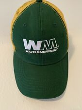 Vintage Waste Management Uniform Cap Snap Mesh Back Truckers Hat Sportsman