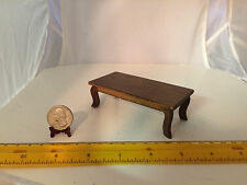 MINIATURE 1:12 VINTAGE COFFEE SOFA TABLE DOLLHOUSE FURNITURE WITH WALNUT STAIN