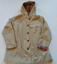 LL Bean Women's Easy-Care Mackintosh Water Resistant Jacket Beige Khaki 2XL