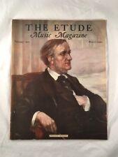 Etude Music Magazine February 1933 Richard Wagner on Cover Vintage Old Antique