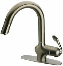 LaToscana DOPW591 Stream Donatello Pull-Out Kitchen Faucet, Brushed Nickel (S14)