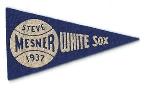 Steve Mesner 1937 BF3 Mini Pennant Red Ball Gum Baseball Chicago White Sox 1930s