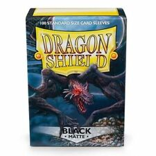 Dragon Shield Matte Black Standard Size Card Sleeves x100
