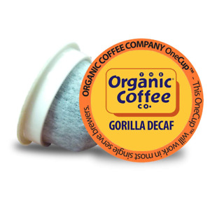 The Organic Coffee Co. Gorilla Decaf 80 Ct Natural Water Processed Medium Light