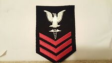 Navy Medical Rank Subdued Patch