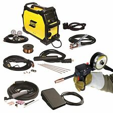 ESAB Rebel EMP 215ic Welder, Spoolgun, Foot Control and FREE HELMET (0558102240)