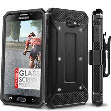 Evocel Samsung Galaxy J7 Prime V Case Belt Clip Glass Screen Protector Dirt