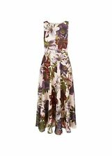 Hobbs Floral Carly Dress Midi Fit & Flare Sleeveless