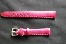 12mm PINK -Metallic-Colour-Calf-Grain-Leather Ladies Watch Strap