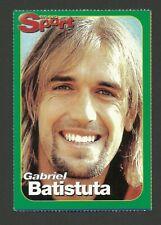 Gabriel Batistuta Football Soccer 2001 German Bravo Sports Card