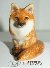 "Little Critterz Miniature Porcelain Animal Figure Red Fox Sitting ""Brush"" LC954"