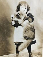 Vintage Antique Mounted Photo Circa 1800's Fabulous Huge Cat Kitty Photograph