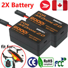 2x 11.1V 2000mAh LiPo Battery For Parrot AR Drone 2.0 Quadcopter Helicopter GM