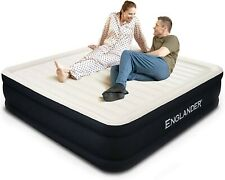 California King Air Mattress,Luxury Microfiber airbed with Built-in Pump