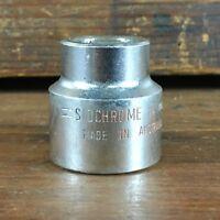 "VINTAGE SIDCHROME 1940-5 24mm 1/2""dr METRIC SOCKET MADE IN AUSTRALIA"