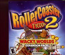 Montaña rusa Tycoon 2-Wacky mundos Pack De Expansión/PC CD-ROM Juego-Como Nuevo