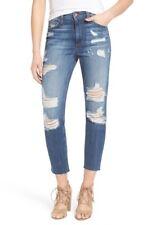 NWT Joe's Jeans DEBBIE CROP High Rise Boyfriend KUMI Dark Wash Distressed SZ 25