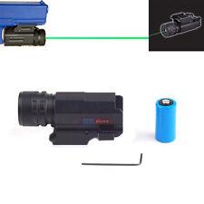 Power Green Dot Laser Sight QD 20mm Rail Mount for Pistol Rifle Glock 17 19 22