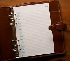 2018 A5 Planner Month to One Page Diary Inserts 'Teal/Aqua' #782 Fits FILOFAX
