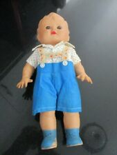 VINTAGE SUN RUBBER BOY DOLL with HANDMADE CLOTHES