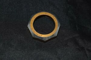 OMAS 1''x24 Headset Top Lock Nut aluminium gold / silver Italy vintage NOS