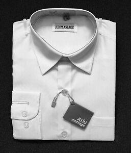 Kinderhemd Jungenhemd Jungen Hemd weiß langarm  Neu